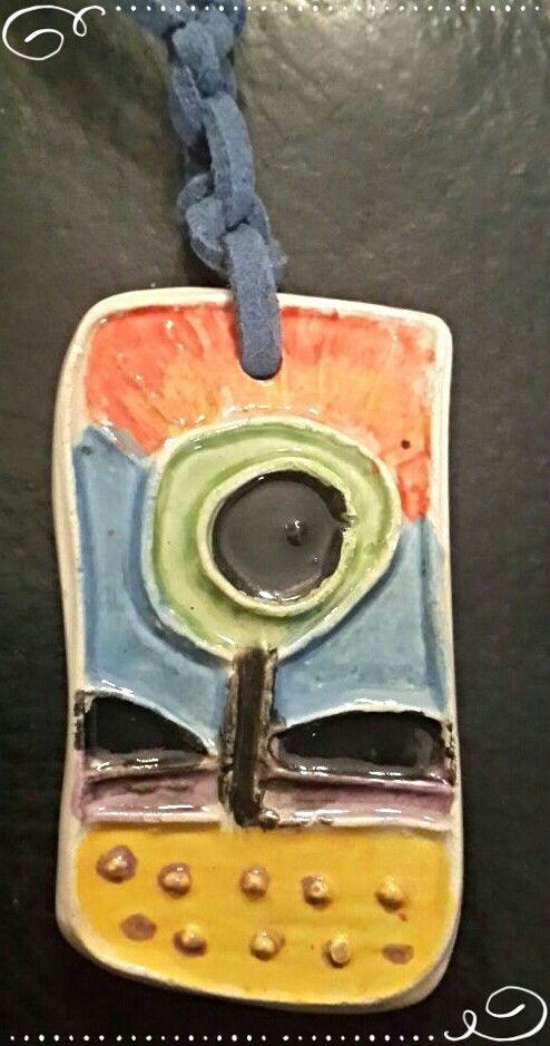 Ceramic pendant #110