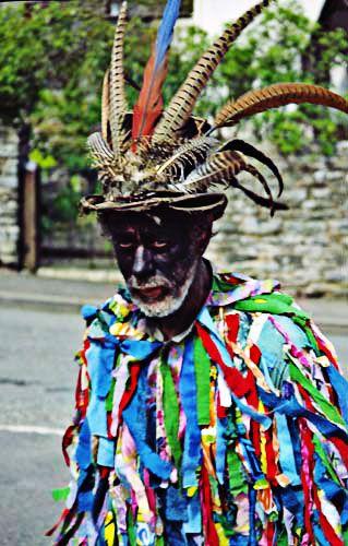 Morris Dancer at the Green Man Festival, UK