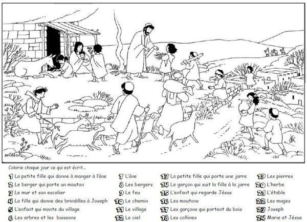 17 meilleures id es propos de activit s bibliques pour - Calendrier de l avent coloriage ...