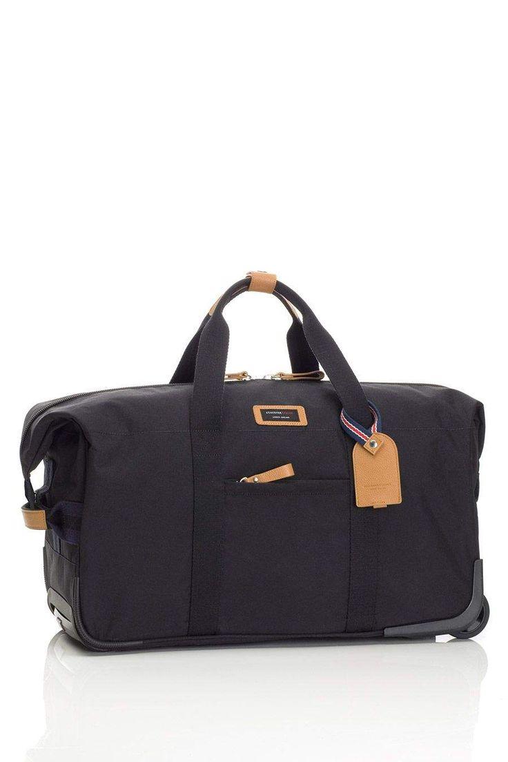 Handgepäck Reise-Wickeltasche zum Ziehen schwarz