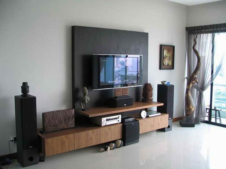 Wall Mounted Modern TV Room Decor