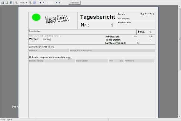 Digitales Bautagebuch Mit Vorlage Automatisch 1