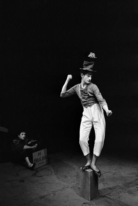 Erich Lessing  French mime artist Marcel MARCEAU.