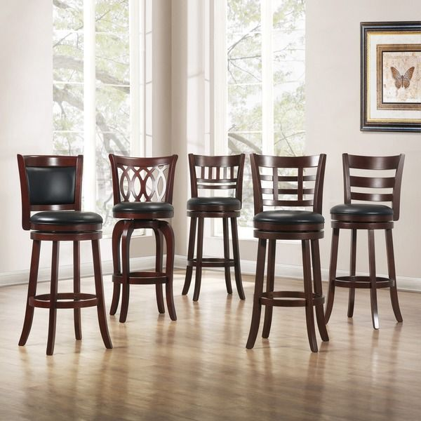 TRIBECCA HOME Verona Cherry Swivel 29-inch Barstool | Overstock.com Shopping - The Best Deals on Bar Stools