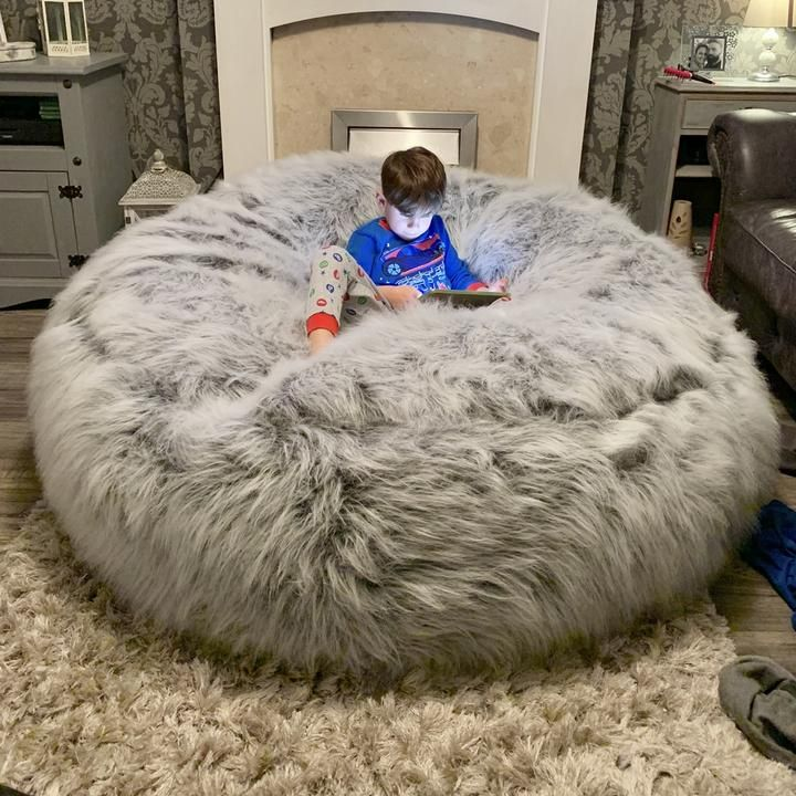 The Ultimate Xxl Adults Children S Pre Filled Faux Fur Bean Bag