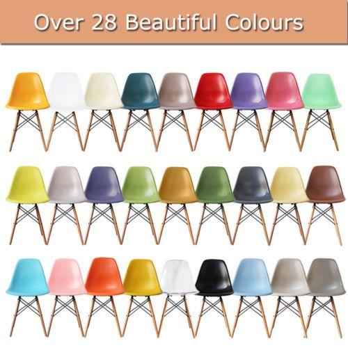 Charles-Ray-Eames-Style-Eiffel-DSW-salotto-sala-da-pranzo-sedia-lato-LEGNO-Designer-Moderno