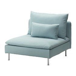 Chair for dorm room...Its super comfy :) SÖDERHAMN One-seat section - Isefall light turquoise - IKEA