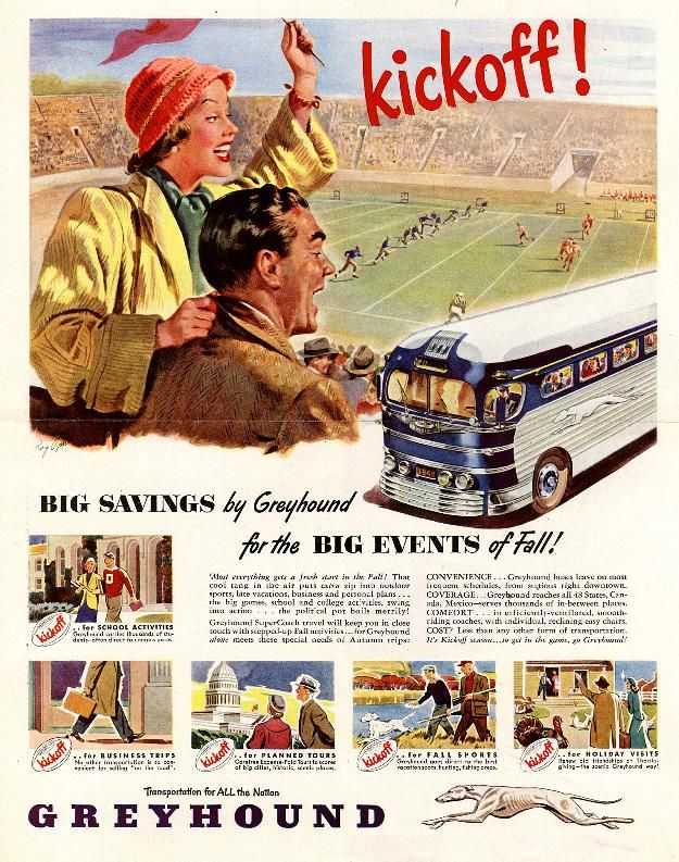Vintage Greyhound Ad - 1948