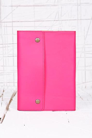 Oh Snap Leather Notebook in Neon Pink at Urban Outfitters