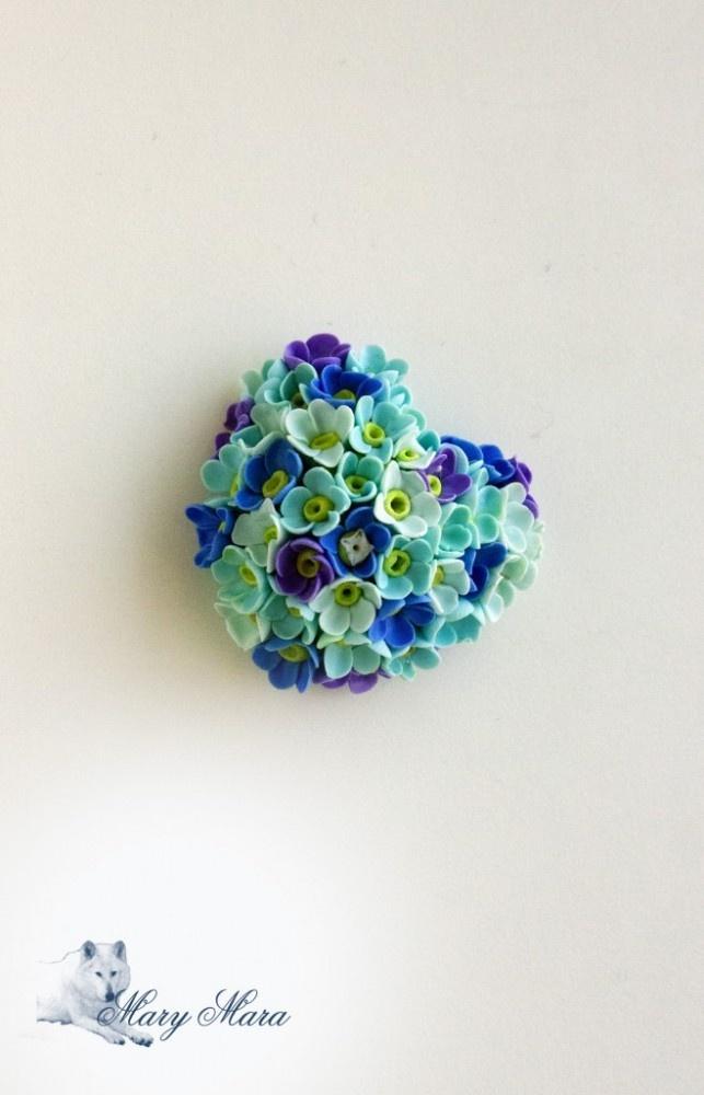 fimo flower heart