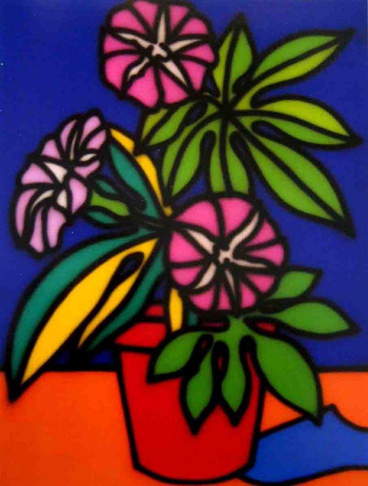 Still Life Petunias - Howard Arkley