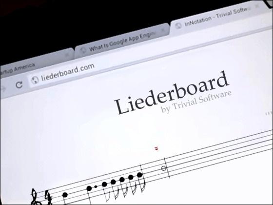 Liederboard: A Digital Music Composition Notebook by Daniel Favela, via Kickstarter.