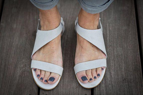 10 Sale Francis White Leather Sandals Wedding Shoes by abramey Via Etsy.Com