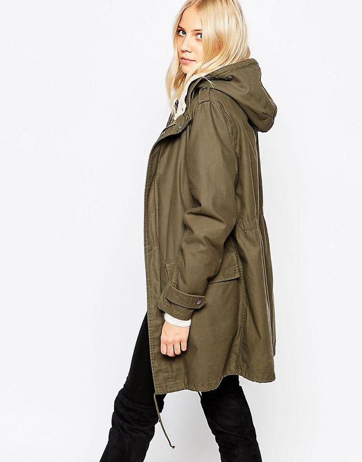 Parka London Elisa Coat With Borg Lining