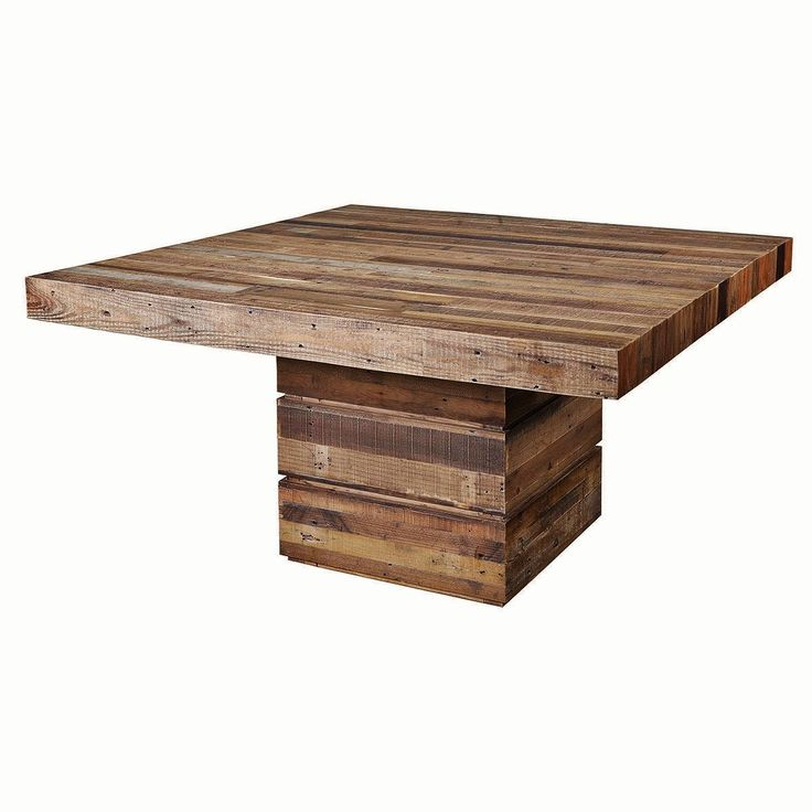 Table Zin Home Dining Rooms Square Dining Tables Reclaimed Wood