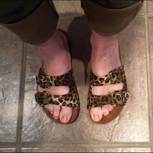 Fashion Faves HP 3/26! Forever Leopard Sandals NEVER WORN. Enjoy your spring days running errands in these fashionable yet comfy leopard print sandals! Forever  Shoes Sandals