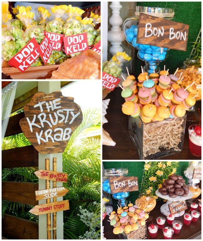 Spongebob Birthday Party with Lots of Really Fun Ideas via Kara's Party Ideas Shop | KarasPartyIdeas.com #SpongebobSquarepants #GenderNeutral #PartyIdeas #Supplies #SpongebobParty