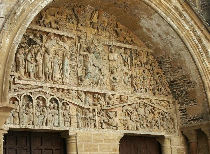 Tympanum of St. Foye, Conques.