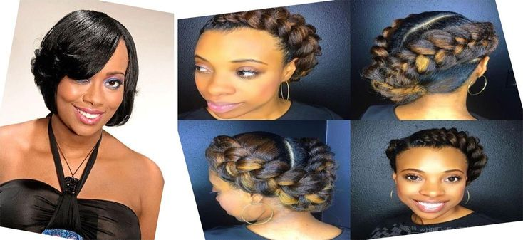 Short Hair Cuts For Black Girls | Medium Length Hairstyles For Women | Ponytail ...