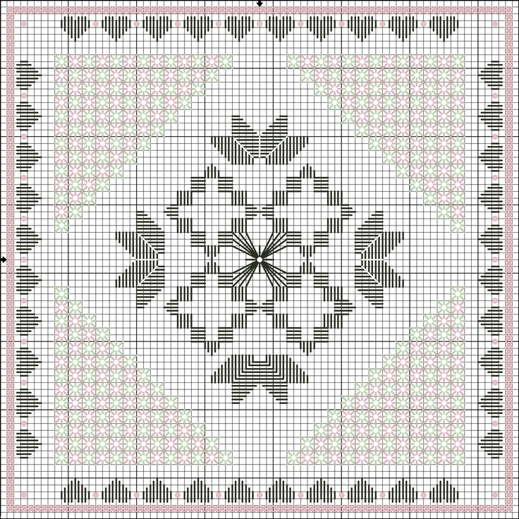 Flowers in the Garden - Lee Albrecht: 200.000 Hits - Pattern Hardanger gratuito