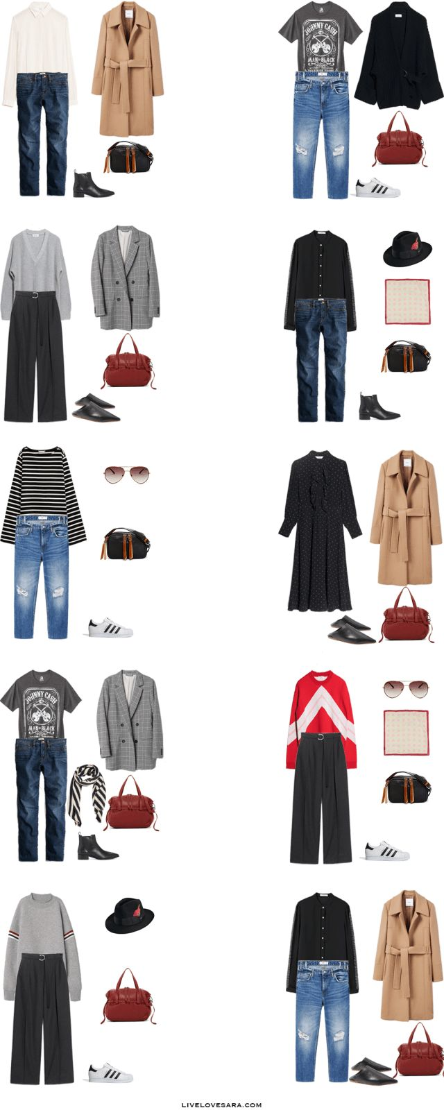 What to Pack for Munich, Florence, and Serbia Packing Light List Outfit Options 11-20 | What to What to Pack for Munich | What to What to Pack for Florence | What to What to Pack for Serbia | Packing Light | Packing List | Travel Light | Travel Wardrobe | Travel Capsule | Capsule |