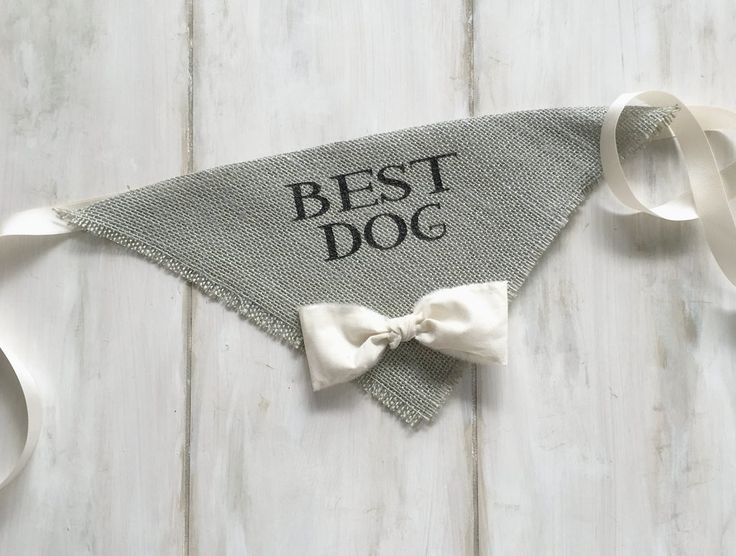 Best Dog -  Gray Wedding Dog Bandana with Bowtie - Hello Hazel Co.                                                                                                                                                                                 More