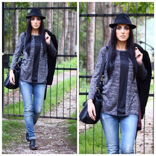 #bonnet #look #lookoftheday #igers #followme #likeforlike #like #instalike #instalook #moda #fashion #fashionblogger #afashionthink #life #darklady #black #denim #igaaddicted #instacollage #instaoutfit #instagood #instagrammer #scattiitaliani #luisa #isabella