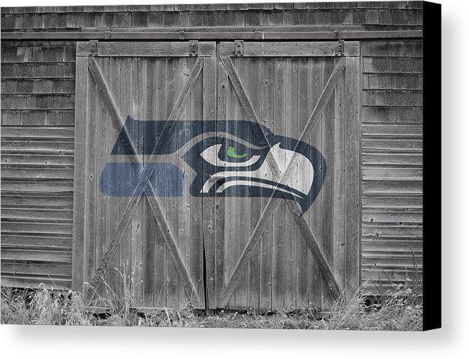 Seahawks Canvas Print featuring the photograph Seattle Seahawks by Joe Hamilton