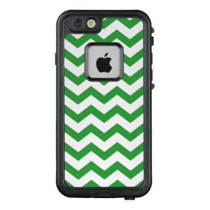 Green Chevron Stripes LifeProof FRĒ iPhone 6/6s Case - cool gift idea unique present special diy