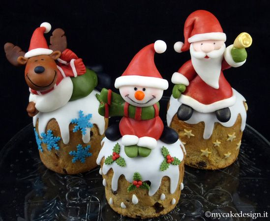 Un dolce cadeau per natale: panettoncini decorati | My Cake Design