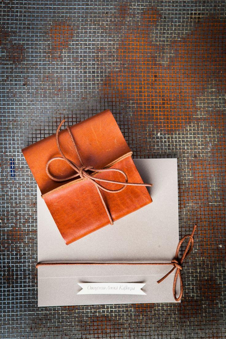 winter wedding ideas | leather favors | elegant wedding invitations | www.bemyguest.com.gr