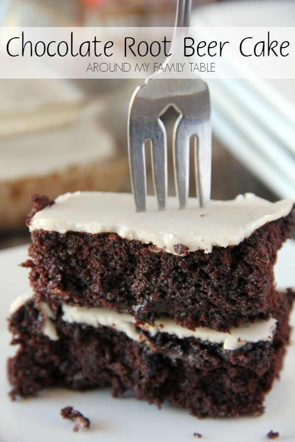 Chocolate and root beer join together for this easy and scrumptious 4-ingredient CHOCOLATE ROOT BEER CAKE dessert.
