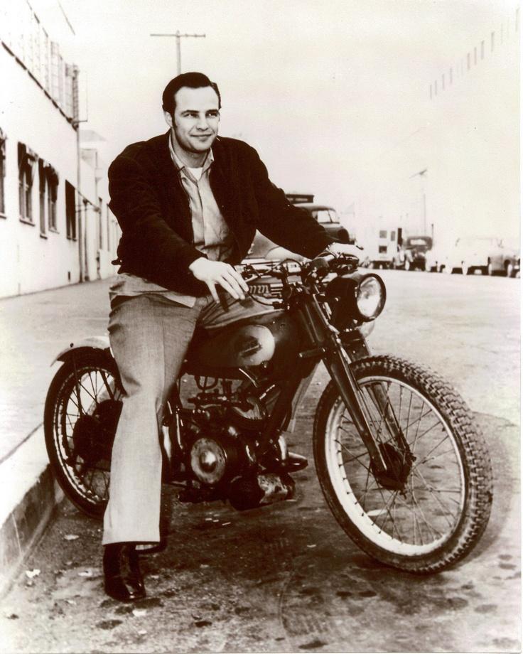 Vintage Motorcycle & Marlon Brando