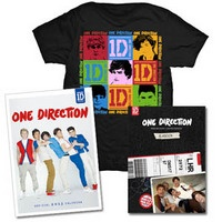 One Direction: One Direction Take Me Home Deluxe Yearbook CD, Squares Black T-Shirt & Calendar Bundle $50