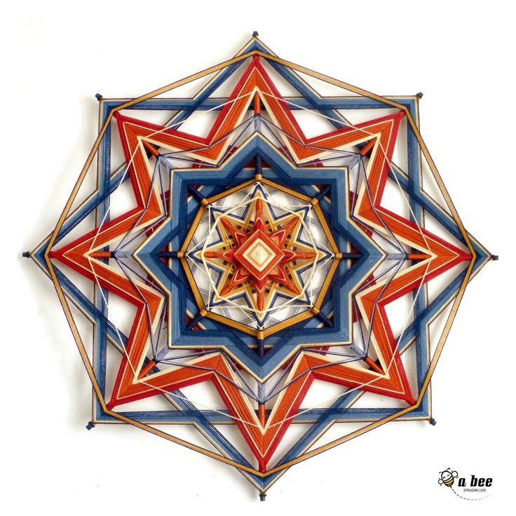 yarn mandala - Olho de Deus 100X100cm