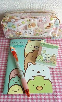 SUMIKKO GURASHI Stationery SET Pencil case Ball-point pen Note Memo SAN-X KAWAII