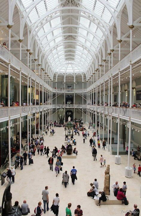 Grand Gallery, National Museum of Scotland, Edinburgh. Home to a variety of artifacts, including the Lewis Chessmen.