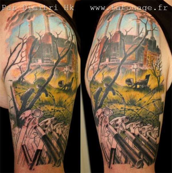 This is a gorgeous pink floyd tattoo tattoo for Pink floyd tattoo