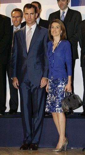 Felipe y Letizia Principes de Asturias en Ifema.