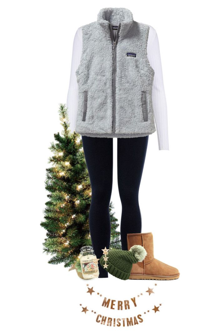 """it's basically christmas time now right?"" by heyymaisey ❤ liked on Polyvore featuring Cushnie Et Ochs, NIKE, Patagonia, UGG Australia, Bloomingville and Yankee Candle"
