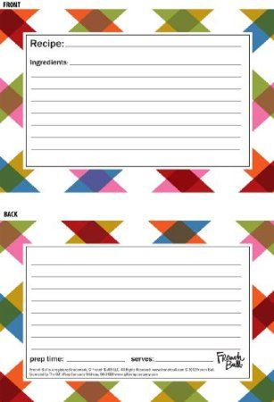 523 best PRINTABLE RECIPE CARDS images on Pinterest Printable - recipe card