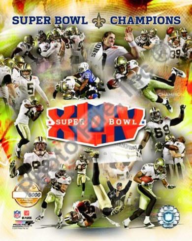 New Orleans Saints Super Bowl XLIV Champions PF Gold Photo