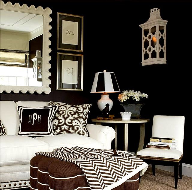 Ruth Burts Interiors: More Black Rooms + Black Paint Colors