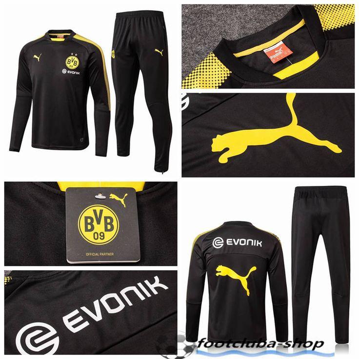 survetement sport homme Dortmund BVB Jaune Col Rond 2017/2018