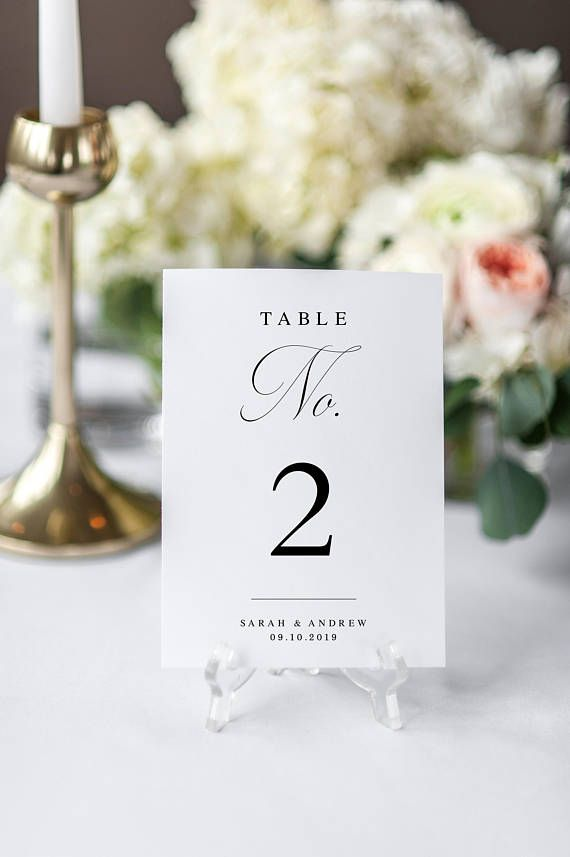 Minimalist Table Number Template Printable Table Number Card Templett INSTANT Download Modern Calligraphy Wedding Editable