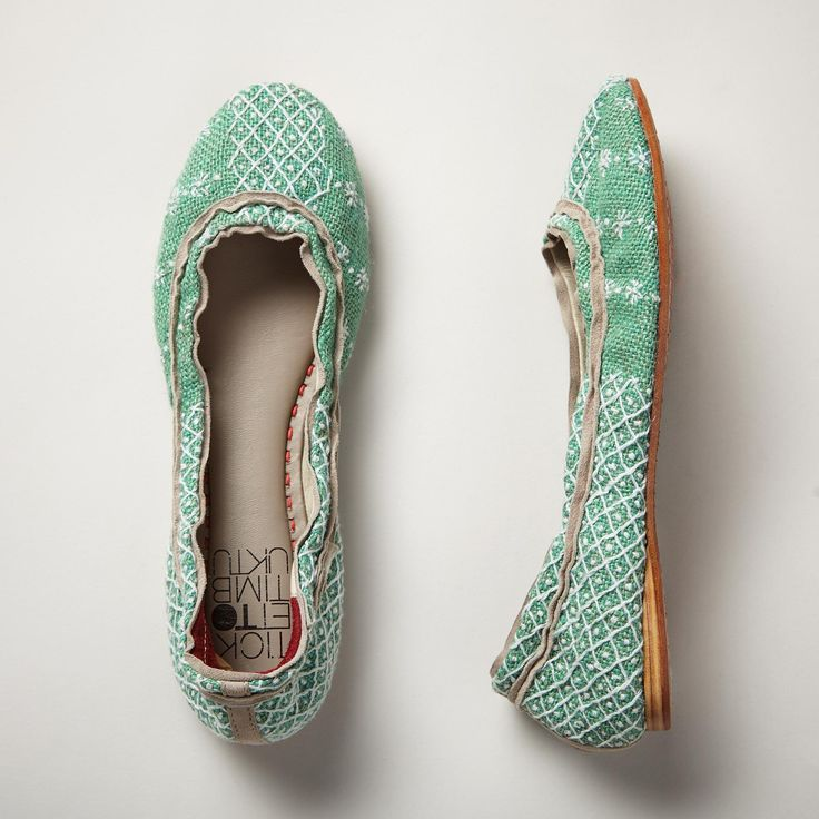 MARIELE FLATS--Enjoy art in every footstep in our handmade, woven hemp flats with embroidered accents and suede trim. Leather lined. Imported. Exclusive. Euro whole sizes 36 to 41.