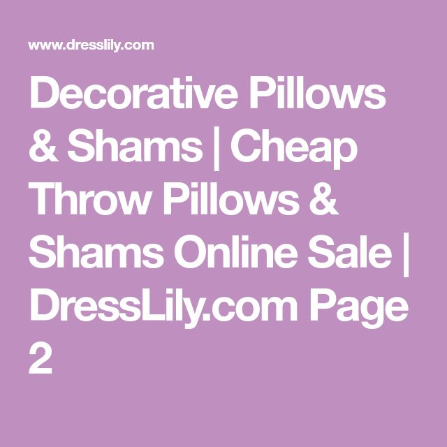 Decorative Pillows & Shams | Cheap Throw Pillows & Shams Online Sale | DressLily.com Page 2
