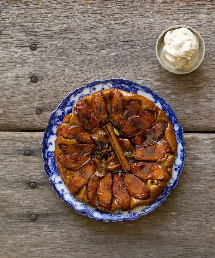 Peach tarte tartin #quirkycookbook #thermomix