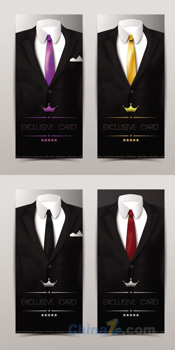 free download tuxedo creative card design template vector