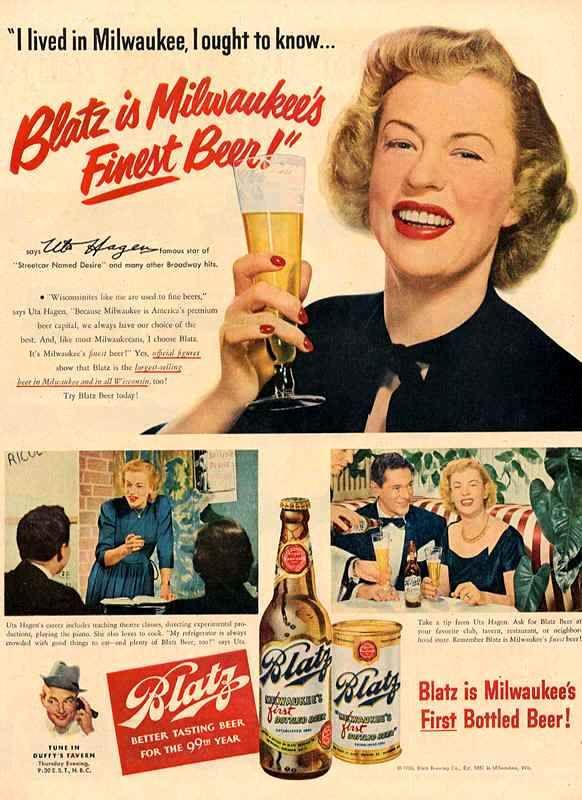 Publicidad vintage de cerveza